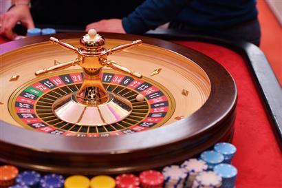 Rouletterad im Casino