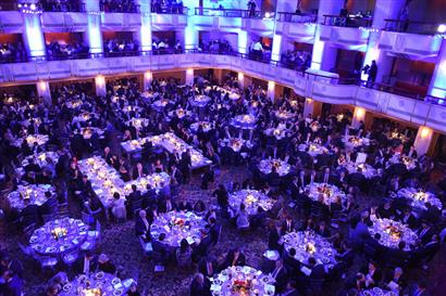 Covered ballroom from above